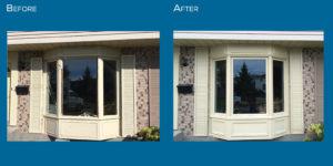 New bay window installation Green View Windows